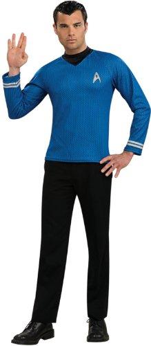 Rubie's Costume Star Trek Into Darkness Spock Shirt With Emblem, Blue, Medium Costume