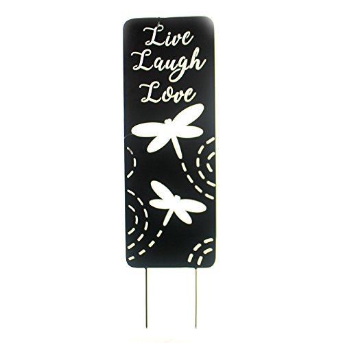 Home & Garden LIVE LAUGH LOVE YARD PANEL Metal Dragonfly Yard Sign 63690