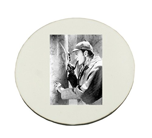 Circle Mousepad with Basil Rathbone as Sherlock Holmes.