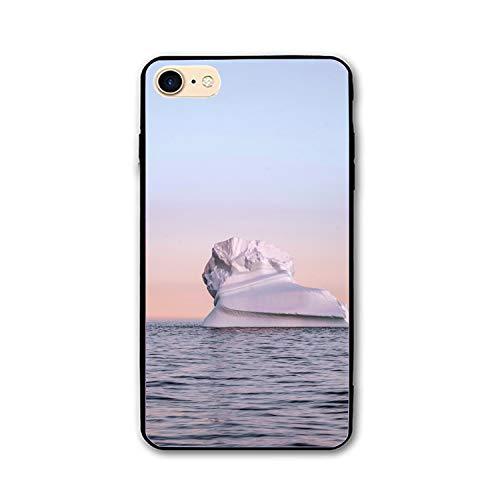 iPhone 7/8 Case,Personalized Iceberg Snow Arctic Twilight Floral Print PC Cellphone case