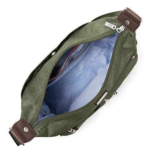 RFID Baggallini Hobo Travel Phone Large Bundle Earphones Olive Wristlet Anywhere rURqUwt