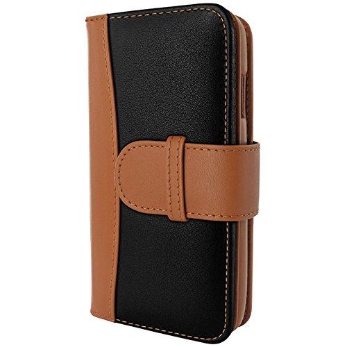 Piel Frama Wallet Case for Apple iPhone 6 Plus - Black / Tan by Piel Frama