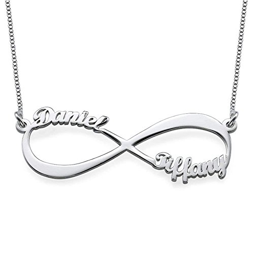 Froshine Personalized Couple Infinity Pendant Custom Necklace with Your Name - Made w/Any Name for Endless Love