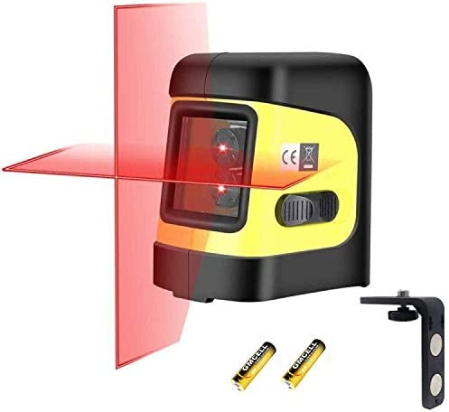 Firecore F112R Self-Leveling Horizontal Vertical Cross-Line Laser Level with Magnetic Bracket