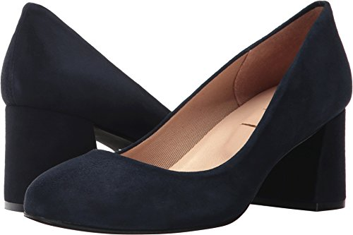 French Navy Suede Classic Toe Round Suede Trance Pumps Womens Sole 4arn84qv