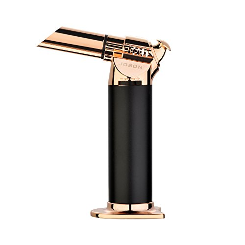 MDee Culinary Butane Torch - Refillable Kitchen Cooking Blow Torch Lighter with Flame Lock and Adjustable Flame - for Searing toast, Meat, Creme Brulee,pastry, BBQ, Welding -Gas Not Included, Golden