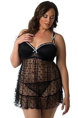 Velvet Kitten Sexy Plus Size Babydoll for Women 512156Q
