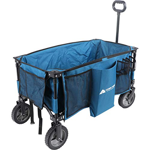 Ozark-Trail Folding Wagon, Blue