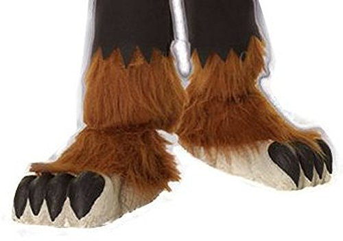 [Childs Wolfman Costume Shoe Covers] (Werewolf Accessories)