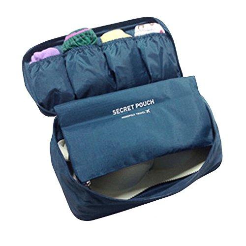 FunYoung Unterwäsche Aufbewahrungstasche - Wasserdichtes Nylon Reisetasche Sockentasche Kulturbeutel Farbwahl (schwarzblau)