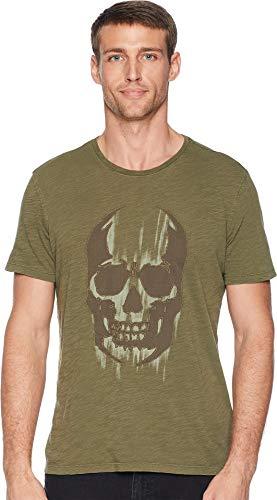 John Varvatos Star U.S.A. Men's Faded Skull Olive Medium