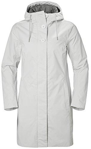 Nimbus Jacket - Helly Hansen Womens Elements Long Jacket - Nimbus Cloud, XL