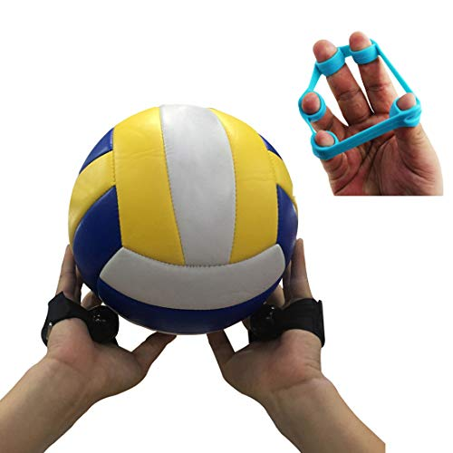 Volleyball Training Aid - Great for Kids Volleyball Setting - 2 Straps (Black)