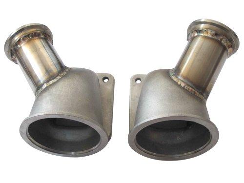 Amazon com: CXRacing Twin Turbo Header Manifold Downpipe Kit