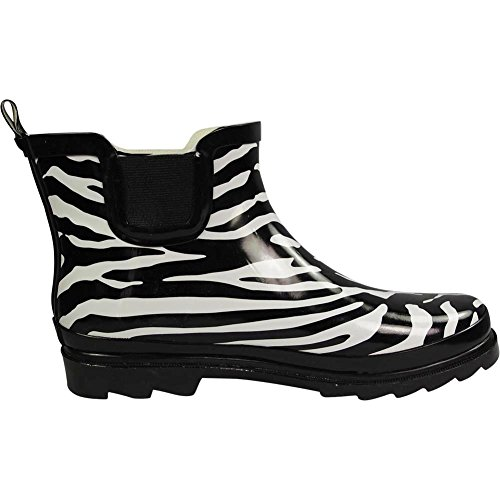 Boot Ankle Winter Spring Garden Waterproof Womens Boots Ladies NORTY Black Rain White Zebra gnq5zFxw6