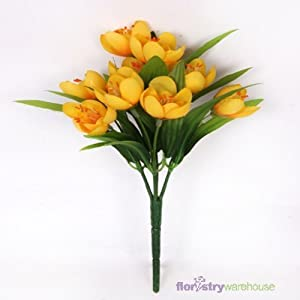 FloristryWarehouse Artificial Silk Crocus Yellow (9 inches high) 2