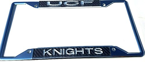 UCF Central Florida Knights Silver Chrome Carbon License Plate Frame ()