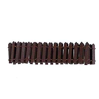 Ziitai 2Pcs 39x2inch DIY Miniature Fairy Garden Kit Wood Picket Fence Micro-Landscape Accessories Decor