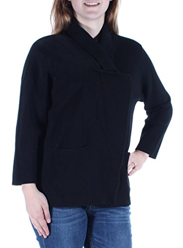Alfani $90 Womens New 1272 Black Long Sleeve Open Cardigan Casual Top L B+B