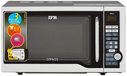 IFB 20 L Solo Microwave Oven  20PM2S, Silver