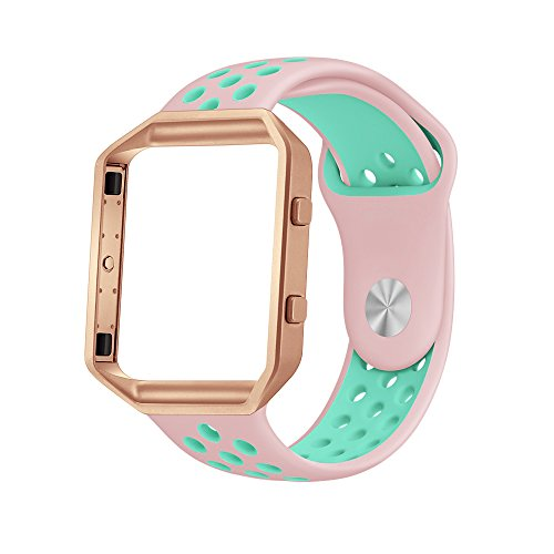 LoveBlue for Fitbit Blaze Band,Fitbit Blaze Sports Silicone Bracelet Strap Wristband Replacement Band Watchband with Frame for Fitbit Blaze