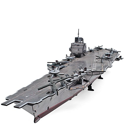 CubicFun-3D Ship Model Puzzle,USS Enterprise Aircraft Carrier,P677h 121 Pieces