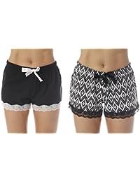 Womans Pajamas Shorts - PJs - Sleepwear (Pack of 2)