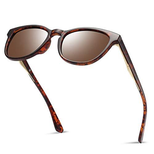 (Polarized Tortoise Mirrored Sunglasses for Men - KANASTAL Leopard Sunglasses Fashion Women(Leopard Frame Brown Lens))