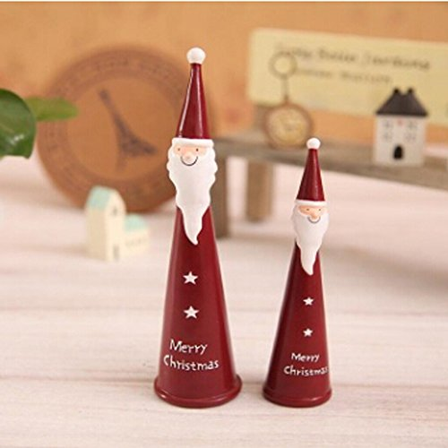 Male Costume Ideas 2016 (BXT ZAKKA Cute Mini Christmas Man Santa Claus Tree Toy Environmental Synthetic Resin Finger Puppets Home Bedroom Decoration Party Favor Costumes,Christmas Gift Playset for Kids Children,2Pcs)