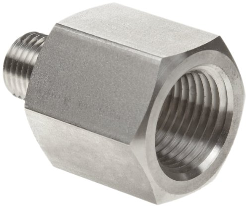 Parker Stainless Steel 316 Pipe Fitting, Reducing Adapter, 1/8
