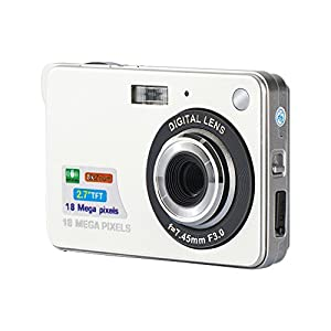 AmYin Mini Digital Camera 18 Megapixel with 2.7'' LCD Display (Silver) by AmYin