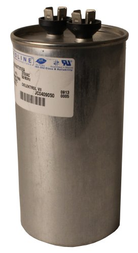 Fasco C3DR8010 80 Mfd/10 Mfd 370-volt Proline Dual Microfarad Capacitor with  2.5-Inch Base Size and 4.75-Inch Case Height