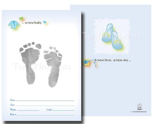 TenLil'Imprints Birth Announcement Kit, Blue/Black from Ten Lil' Imprints