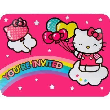 - Hello Kitty 'Balloon Rainbow' Invitations and Thank You Notes w/ Env. (8ct each)
