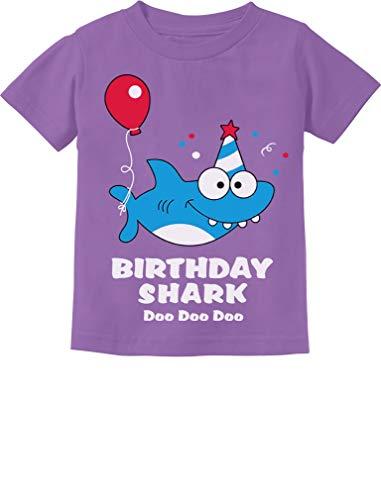 Baby Shark Doo doo doo First/2nd Birthday Shark Outfit Infant Kids T-Shirt 12M Lavender
