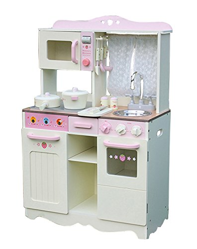 Cucina per bambini Cucina gioco in legno Vintage CREMA con accessori ...