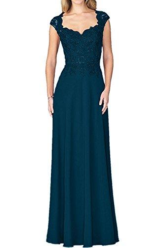 Damen Charmant Brautmutterkleider Blau Abendkleider Langes Festliche Damen Weinrot Tinte Spitze Kleider Ballkleider mit qT87XTn