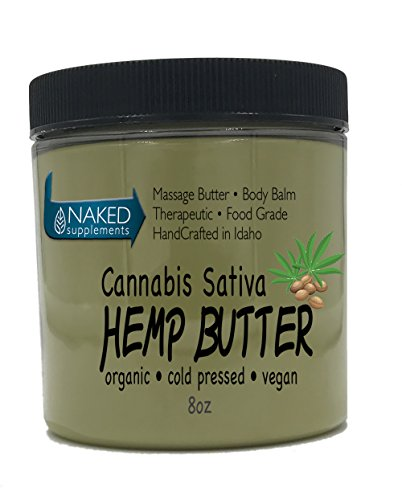 Cannabis Sativa Hemp Butter   100  Pure  Organic   Raw   Handcrafted   Vegan  1 8Oz