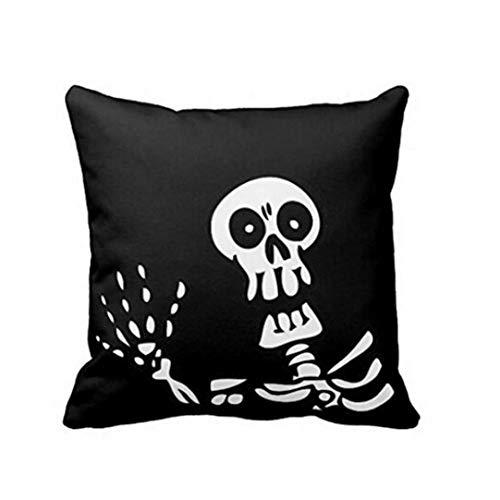 Bolayu Pillow Case Sofa Throw Cushion Cover Home Decor Halloween Pillowcase (Multi 49)
