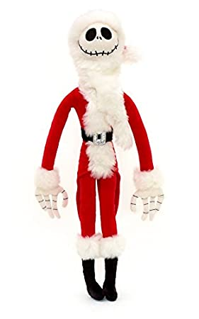 Jack Skellington Christmas.Nightmare Before Christmas Santa Jack Skellington Soft Toy