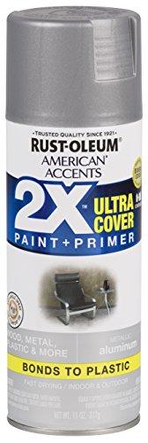 - Rust-Oleum 327907 American Accents Spray Paint, 12 oz, Aluminum
