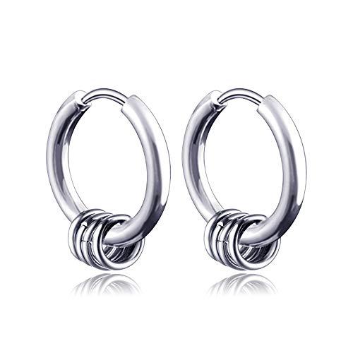 Bracet Stainless Steel Hoop Earring Circle Drop Dangle Earring Cross Ear Clip for Women Mens (Earrings)