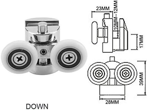 4 ruedas para mampara de ducha, ruedas de aleación de zinc ...
