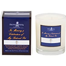Aroma Paws Memorial Candle, 8-Ounce, Royal Blue Cross