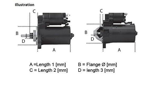 Motor de arranque Starter nuevo Hella 8ea 012 527-651
