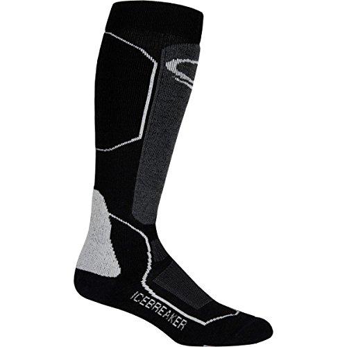 Icebreaker Ski+ Medium Cushion Over The Calf Sock - Women's Black/Oil/Silver, S by Icebreaker