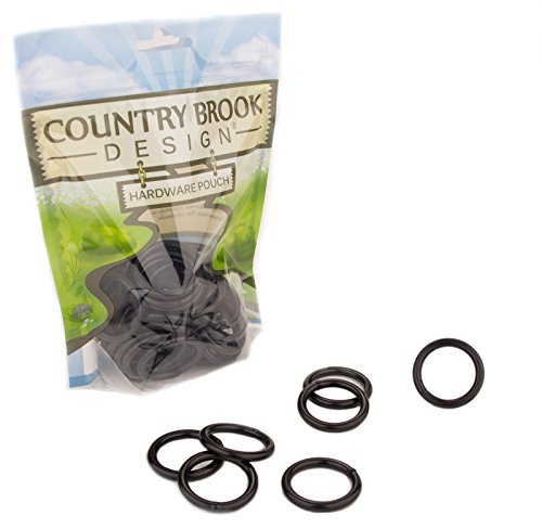 50 - Country Brook Design - 1 Inch Black Powder Coated Welded Heavy O-Rings