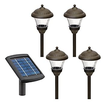 Malibu 4 Pack Solar Metal Landscape Lights with Remote Panel and White  LED s  Oil Rubbed Bronze  LZ501RP4Malibu 4 Pack Solar Metal Landscape Lights with Remote Panel and  . Malibu Landscape Lighting Reviews. Home Design Ideas
