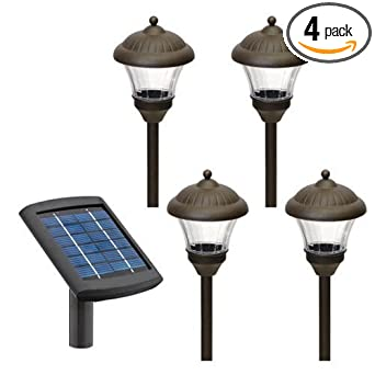 Malibu 4 pack solar metal landscape lights with remote panel and malibu 4 pack solar metal landscape lights with remote panel and white leds oil rubbed aloadofball Image collections