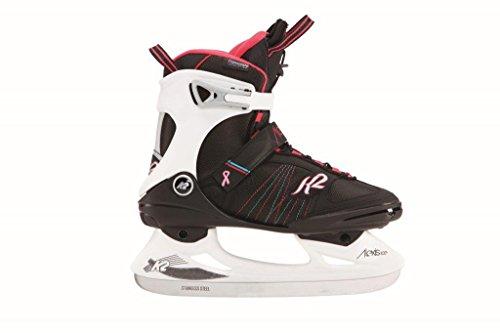 K2 Skate Alexis Ice Pro Skates, Black/White/Pink, Size 10 by K2 Skate